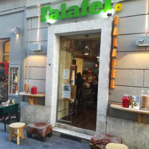 Außenansicht des Lokals Falafel Graz, Färbergasse 2