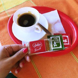 Lotus Keks mit Kaffee