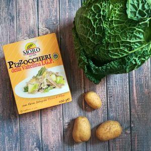 Vollkornnudeln, Kohl und Kartoffeln
